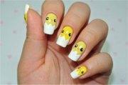 easter chick nail art design