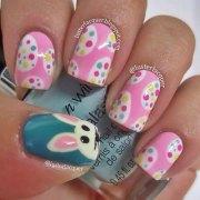 easter egg nail art design