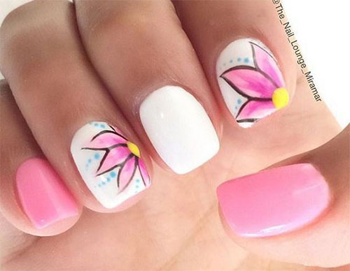 15 Simple Easy Spring Nail Art Designs Ideas Stickers 2016
