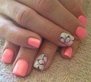 simple & easy spring nail art