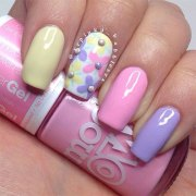 spring gel nail art design