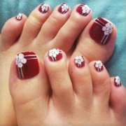 spring toe nail art design