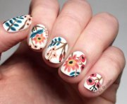 spring flower nail art design