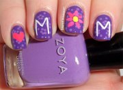 happy mother's day nail art