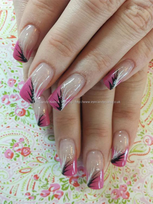 15 Gel French Pink Nail Art Designs  Ideas 2016  Gel Nails  Fabulous Nail Art Designs