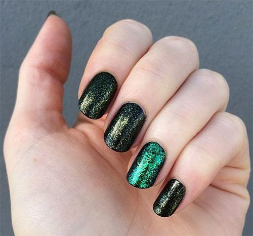 √ Black And Green Nail Designs