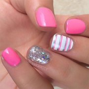 summer pink nail art design
