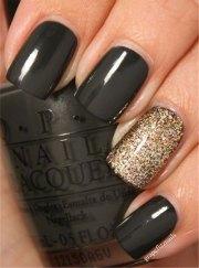 black gel nail art design &