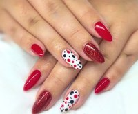 15 Black & Red Gel Nail Art Designs & Ideas 2016 ...