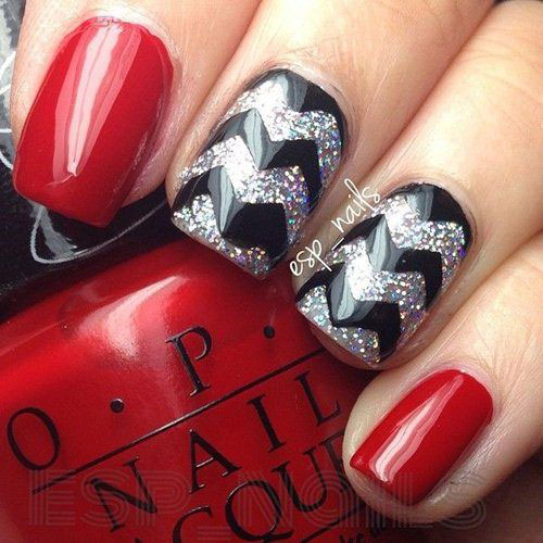 Super Black Nail Art Ed Out Solid Manicure