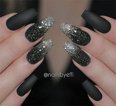 15 Black Silver Gel Nail Art Designs Ideas