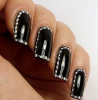Simple Nail Art Designs Black And Silver