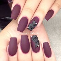 15 Matte Black Gel Nail Art Designs, Ideas & Trends 2016