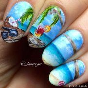 summer beach nail art design