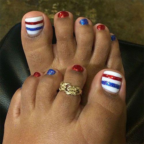 10+ 4th of July Toe Nail Art Designs & Ideas 2016