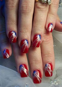 4th Of July Acrylic Nails - Nail Ftempo