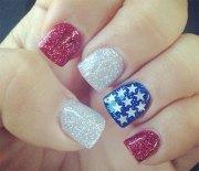 4th of july acrylic nail art