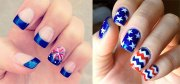 4th of july acrylic nail art