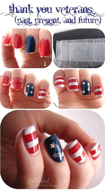 15 Easy Simple 4th Of July Nail Art