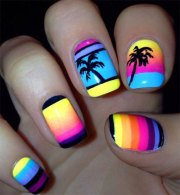 neon summer nail art design