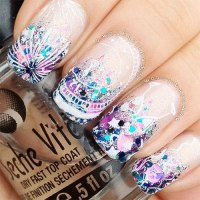 18 Awesome 4th of July Fireworks Nail Art Designs 2016 ...