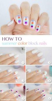 easy step summer nail