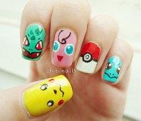 20+ Cute & Easy Pokemon Go Themed Nails Art Designs ...