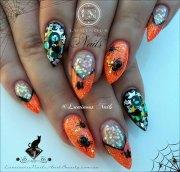 3d halloween nail art design