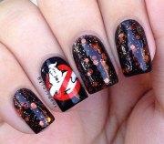halloween acrylic nails art