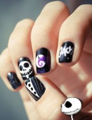 halloween gel nail art design