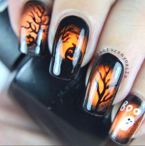 15+ Halloween Gel Nail Art Designs & Ideas 2016