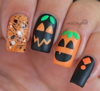 15+ Halloween Pumpkin Nails Art Designs 2016 | Fabulous ...