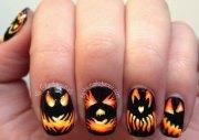 halloween pumpkin nails art
