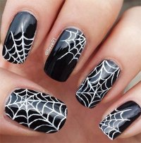 12+ Halloween Spider Web Nail Art Designs & Ideas 2016 ...