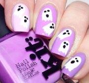 halloween ghost nails art design
