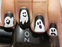 15 Halloween Ghost Nails Art Designs & Ideas 2016 ...