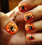 black halloween nails art