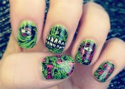 zombie nail art design & ideas