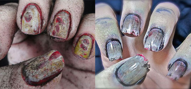 20 Zombie Nail Art Designs Ideas 2017