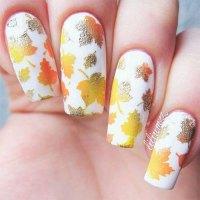 12+ Autumn Leaf Nail Art Designs & Ideas 2016   Fabulous ...