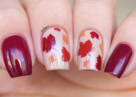 12 Easy Autumn Nail Art Designs  Ideas 2016  Fall Nails