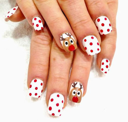 15 Simple Easy Christmas Nail Art Designs Ideas 2016 For
