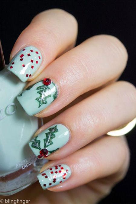 20+ Easy & Cute Christmas Nails Art Designs & Ideas 2016