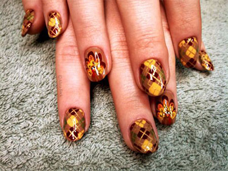30 Best Thanksgiving Nails Art Designs Ideas 2017