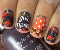 30+ Best Thanksgiving Nails Art Designs & Ideas 2016