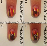 Step By Step Thanksgiving Nail Art Tutorials For Learners ...