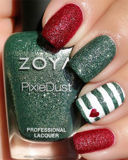 Easy Christmas Nail Art Designs