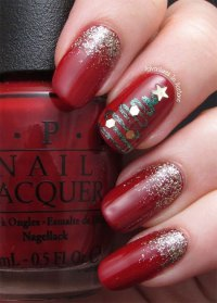 12+ Red, Green & White Christmas Nail Art Designs & Ideas ...