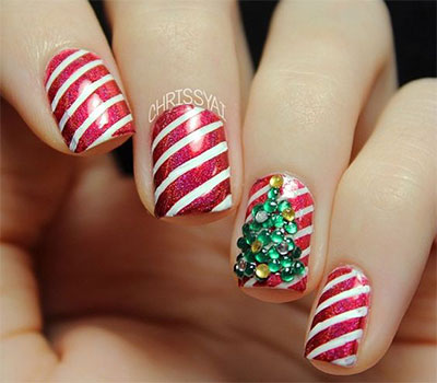 15 Christmas 3d Nail Art Designs Ideas 2017