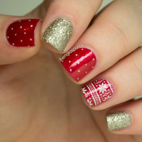 Glamorous Nail Designs For Christmas Holidays